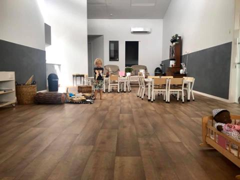 Your Place Childcare , commercial wood look vinyl